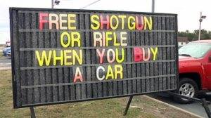 A Fox Carolina image from http://www.wistv.com/story/19959019/upstate-car-dealership-offering-free-gun-when-you-buy-car
